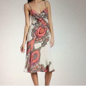 Trina Turk Silk Sun Seeker Dress Pink Marbled